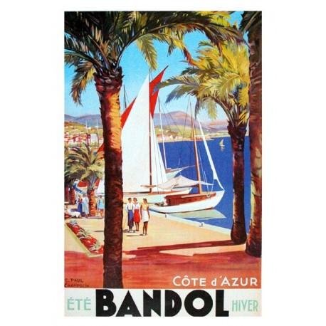 Affiche publicitaire dim : 50x70cm  : BANDOL