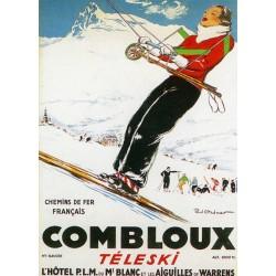 Affiche publicitaire dim : 50x70cm : COMBLOUX