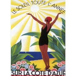 Affiche publicitaire dim : 50x70cm COTE AZU
