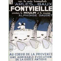 Affiche publicitaire dim : 50x70cm :  FONTVIEILLE