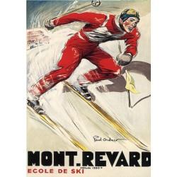 Affiche publicitaire dim : 50x70cm  Mont Revard