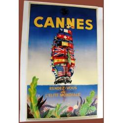 Affiche publicitaire 100x70cm : Cannes