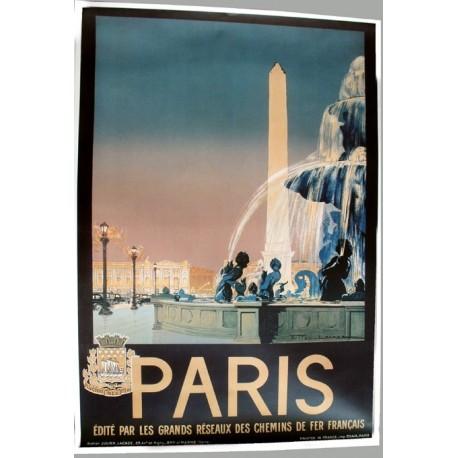 Affiche publicitaire 100x70cm : Paris obélisque
