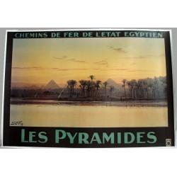 Affiche publicitaire 100x70cm : les PYRAMIDES