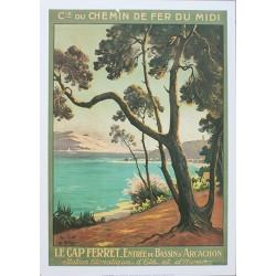 Affiche publicitaire dim : 50x70cm Le Cap Ferret