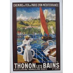 Affiche publicitaire dim : 50x70cm Thonon les Bains