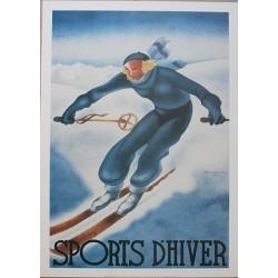 Pour votre décoration intérieure, Affiche publicitaire dim : 50x70cm : Sports d'Hiver
