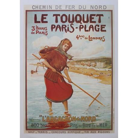 Affiche publicitaire dim : 50x70cm :  Le Touquet Paris-Plage