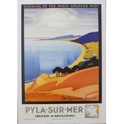 Affiche publicitaire dim : 50x70cm Pyla Sur Mer