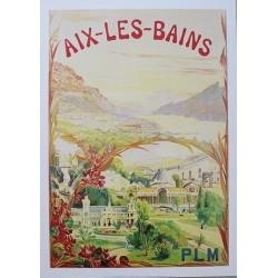 Affiche publicitaire dim : 50x70cm :  Aix les Bains
