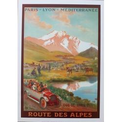 Affiche publicitaire dim : 50x70cm : Route des Alpes