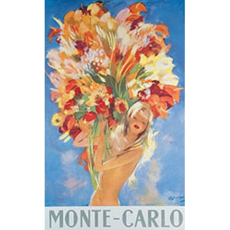 Affiche publicitaire dim : 100x70cm : Monte Carlo