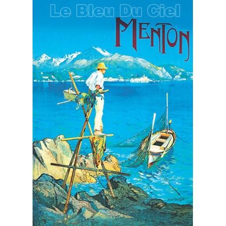 Affiche publicitaire dim : 100x70cm Menton