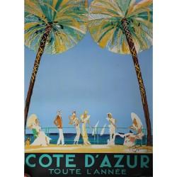Affiche publicitaire dim 100X70CM Côte d'Azur toute l'année