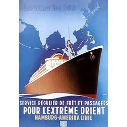 Affiche publicitaire dim : 50x70cm : Service Régulier de Fret.