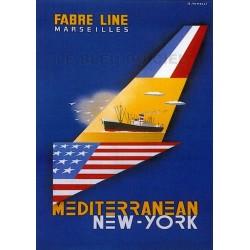 Pour votre décoration intérieure, Affiche publicitaire dim : 50x70cm  Fabre Line Marseilles