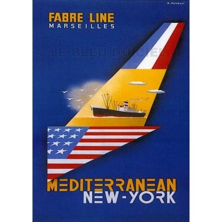 Pour votre décoration intérieure, Affiche publicitaire dim : 50x70cm Fabre Line Marseille