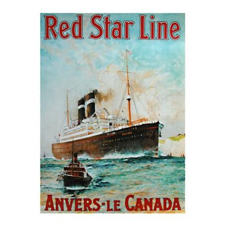Pour votre décoration intérieure, Affiche publicitaire dim : 60x80cm Red Star Line