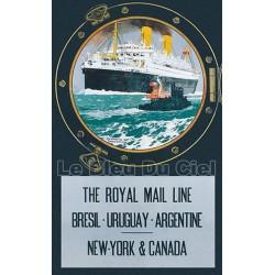 Affiche publicitaire dim : 100x70cm : Royal Mail Line