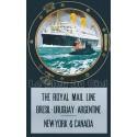 Affiche publicitaire dim : 100x70cm Royal Mail Line