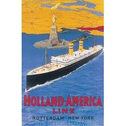 Pour votre décoration intérieure, Affiche publicitaire dim : 100x70cm Holland América Line