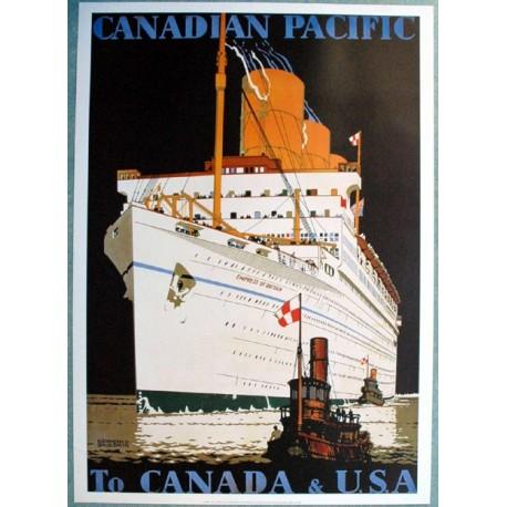 Affiche publicitaire dim : 50x70cm : Canadian pacific