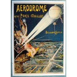 Affiche publicitaire dim : 50x70cm : aérodrome de la Porte Maillot