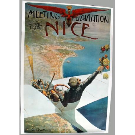Affiche publicitaire 100x70cm : Meeting aérien de Nice