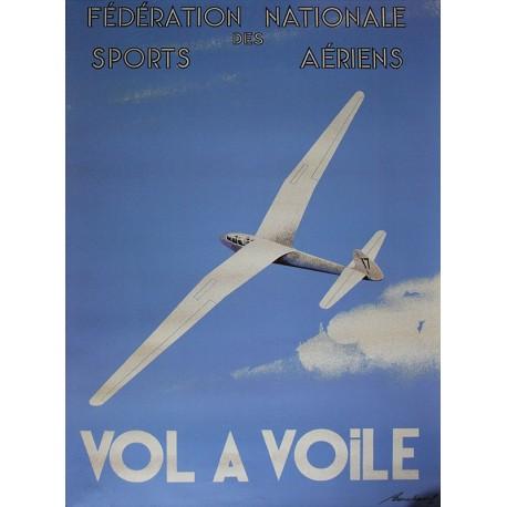 Affiche publicitaire dim 100x70cm : Vol à voile