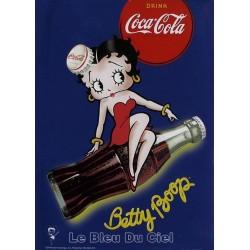 Pour votre décoration uintérieure, Affiche publicitaire dim : 50x70cm Betty boop Coca Cola bleu