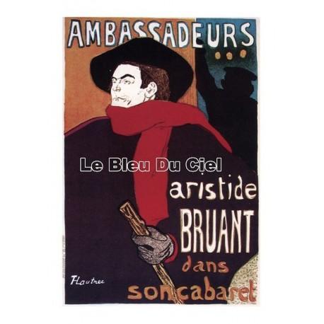 Pour votre décoration intérieure, Affiche publicitaire dim : 50x70cm : Ambassadeurs Aristid Bruant