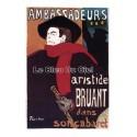 Pour votre décoration intérieure, Affiche publicitaire dim : 50x70cm Ambassadeurs Aristid Bruant