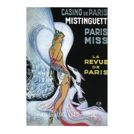 Pour votre décoration intérieure, Affiche publicitaire dim : 50x70cm : Mistinguette Casino de Paris