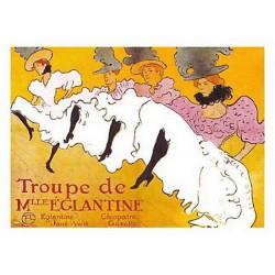 Pour votre décoration intérieure, Affiche publicitaire dim : 50x70cm Troupe de melle Eglantine