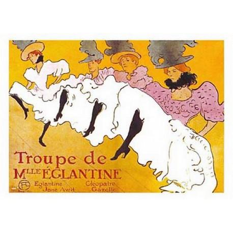 Pour votre décoration intérieure, Affiche publicitaire dim : 50x70cm  : Troupe de melle Eglantine