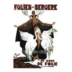 Pour votre décoration intérieure, Affiche publicitaire dim : 50x70cm Folies Bergère