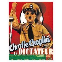 Affiche publicitaire dim : 50x70cm : Charlie Chaplin dictateur