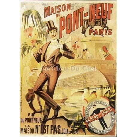 Pour votre décoration intérieure, Affiche publicitaire dim : 50x70cm : Maison du Pont Neuf