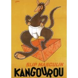 Pour votre décoration intérieure, Affiche publicitaire dim : 50x70cm Slip Kangourou