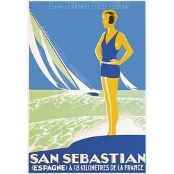 Pour votre décoration intérieure, Affiche publicitaire dim : 100x70cm : San Sébastian