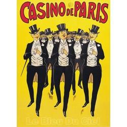 Affiche publicitaire dim : 50x70cm CASINO DE PARIS