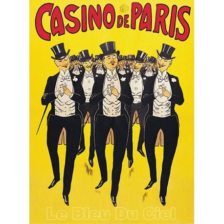 Affiche publicitaire dim : 50x70cm : CASINO DE PARIS