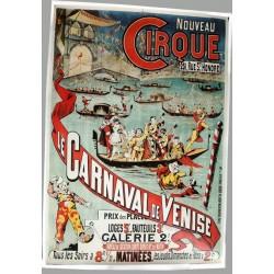 Affiche publicitaire 100x70cm Carnaval de Venise