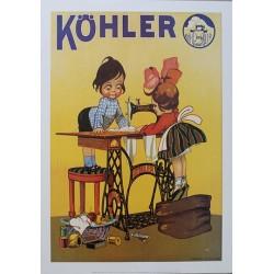 Pour votre décoration intérieure, Affiche publicitaire dim : 50x70cm  : machine à coudre Kohler