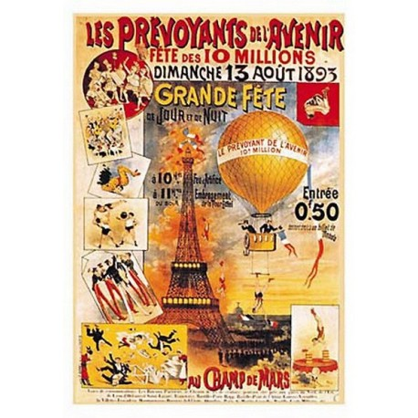 Pour votre décoration intérieure, Affiche publicitaire dim : 23x33cm :  Grande fête Champs de Mars