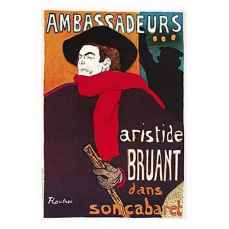 Pour votre décoration intérieure, Affiche publicitaire dim : 23x33cm : Ambassadeurs Aristid Bruant