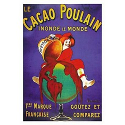 Pour votre décoration intérieure, Affiche publicitaire dim : 23x33cm : Cacao Poulain