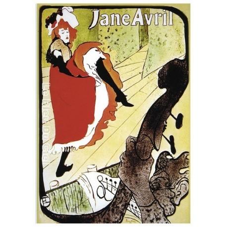 Pour votre décoration intérieure, Affiche publicitaire dim : 23x33cm : Jane Avril