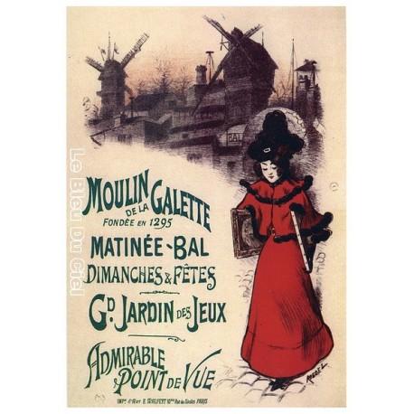 Affiche publicitaire dim : 23x33cm  : Moulin de la Galette