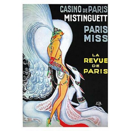 Pour votre décoration intérieure, Affiche publicitaire dim : 23x33cm  : Mistinguette revue de Paris